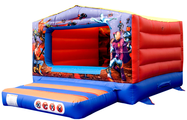 12x14ft Action Super Heros Box Bouncy Castle Jumping House